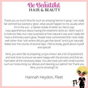 Hannah Heydon Testimonal